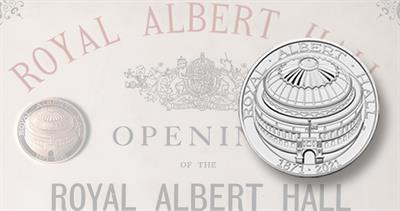 Royal Albert Hall domed Royal Mint coin