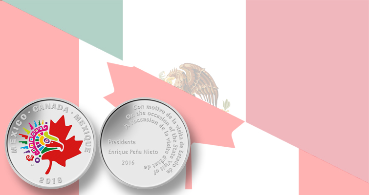 Colorful medal honors Mexico president's visit to Canada