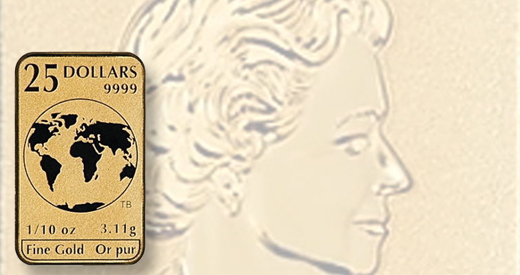 RCM legal tender gold bar that acts like a coin launched by Goldline