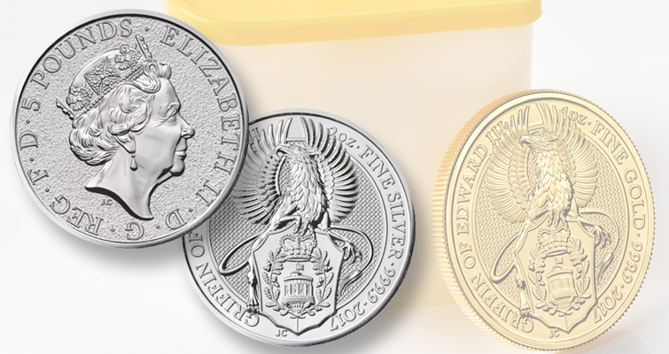 Britain's Royal Mint is offering a new beast with silver and gold coin releases