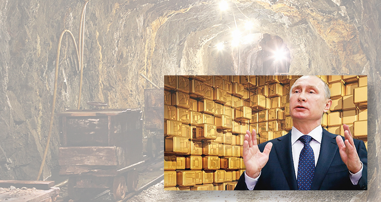 Russian gold stockpiling lead
