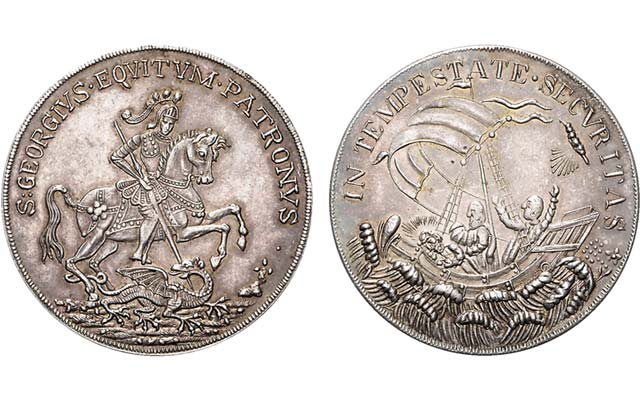 Legend of St. George Slaying Dragon not just on British coins