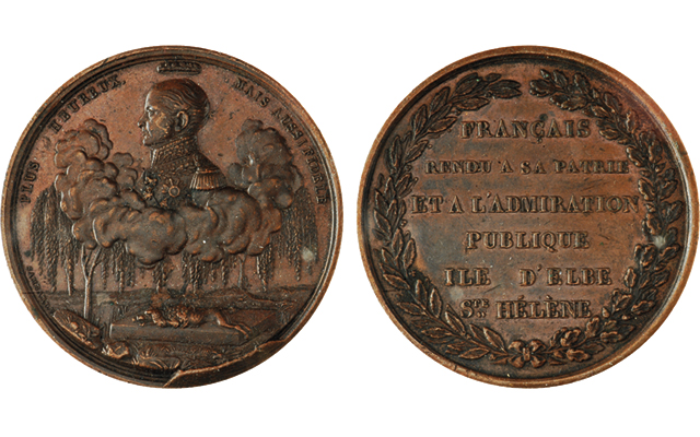 Bronze medal of mystery: French bronze related to Napoleon reburial