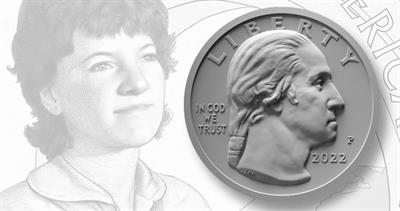 2022 quarter obverse with Sally Ride photo
