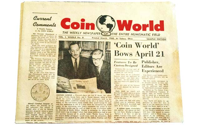 Coin World's first published issue a reader discovery: Readers Ask