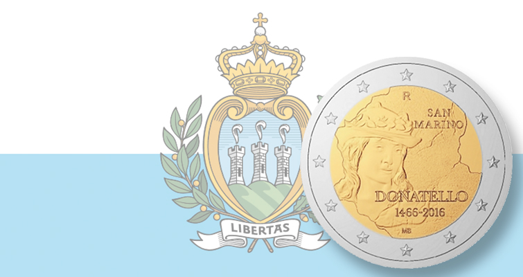 San Marino honors Renaissance artist Donatello with €2 commemorative coin