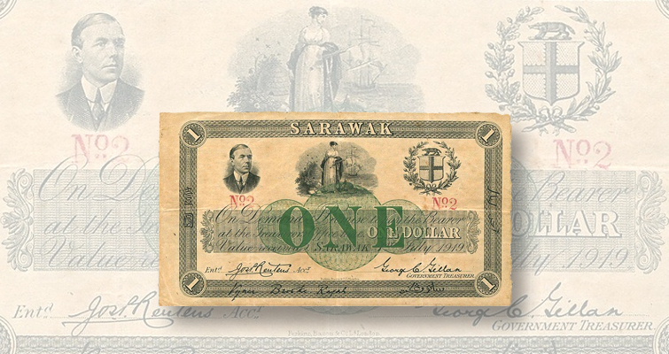 1919 Government of Sarawak $1 note