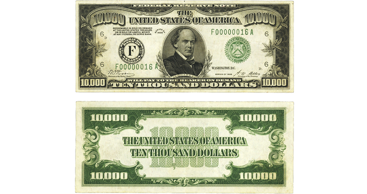 Series 1928 10000 Federal Reserve note merged