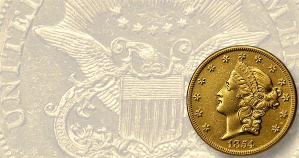 set-4-horseneck-1854-o-dollar20-ngc-au-58-lead