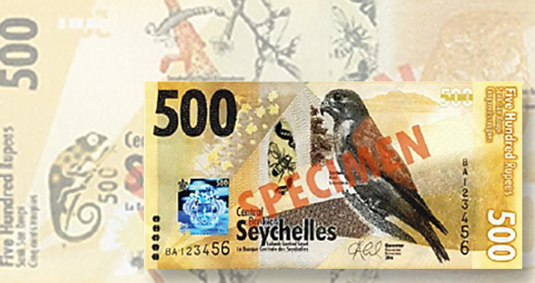 Seychelles' biodiversity theme of new series of bank notes to be released in December
