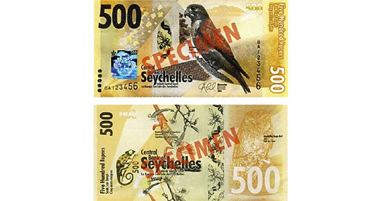 Central Bank of Seychelles 500-rupee note