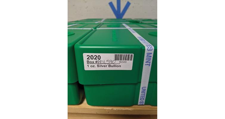 Bullion box from San Francisco Mint