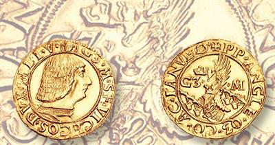 1466-1476 sforza gold ducato