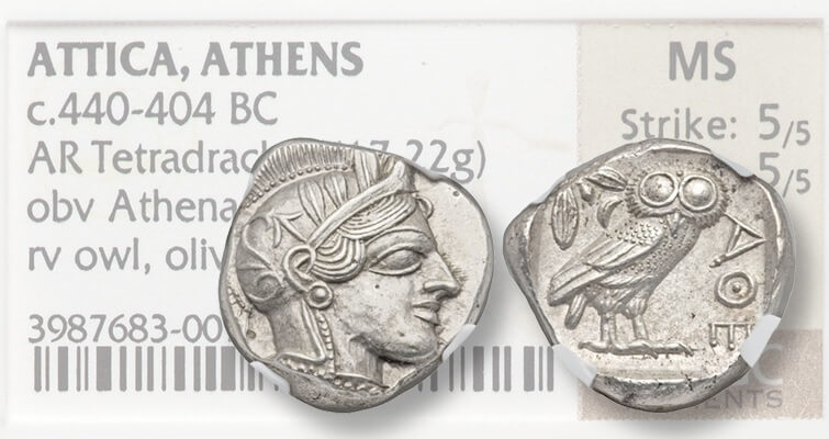 Athenian Owl tetradrachm highlights Heritage CICF auction