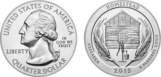 U.S. Mint temporarily sells out 2015 Homestead 5-ounce silver bullion