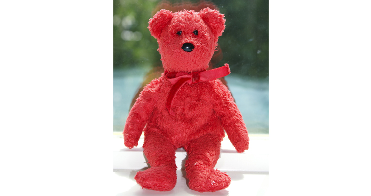 Sizzle the Bear Beanie Baby was released in 2001 and still retails at its $5 issue price.