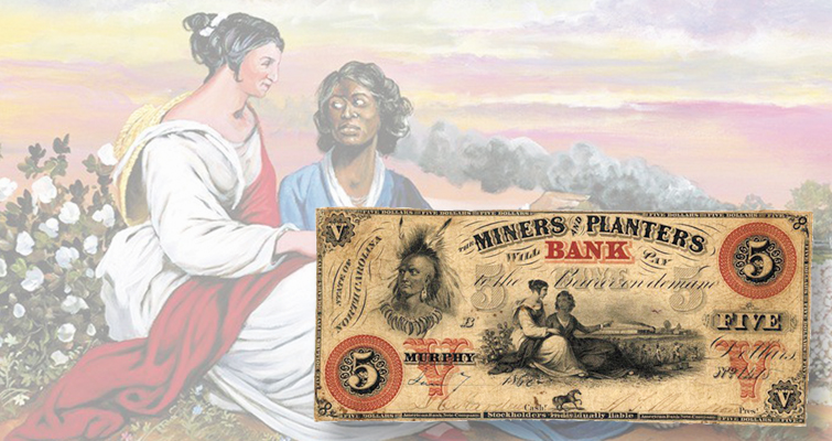 Artist continues to explore scenes of slavery on obsolete notes