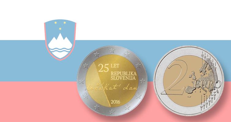 Slovenia's 25th anniversary of independence subject of new €2 coin
