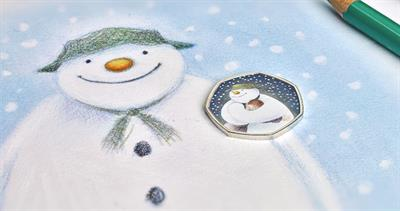 Snowman coin from Royal Mint