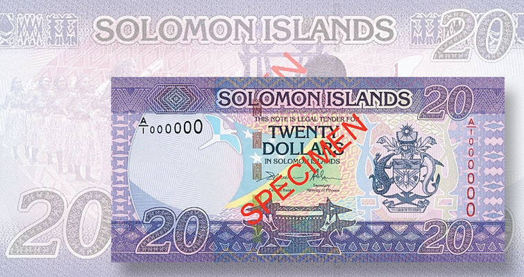 new $20 note for Solomon Islands