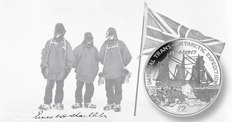 Two more coins celebrate Shackleton's Endurance Expedition