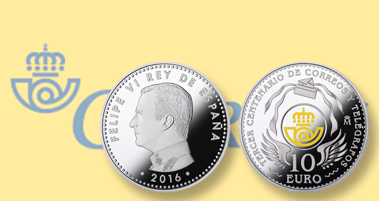 Spain celebrates nation's postal service anniversary with silver €10 coin