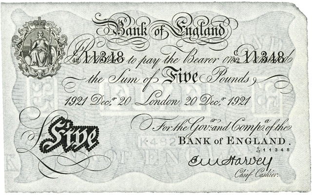 British 'white notes' of the 1900s have cameo role in PBS TV series 'Mr. Selfridge'