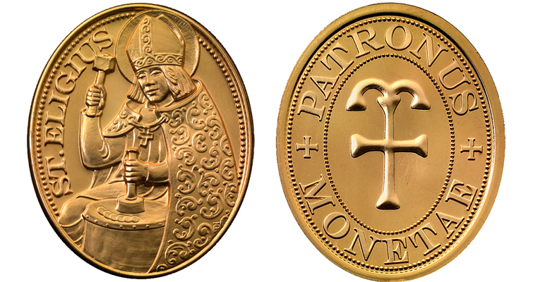 The Austrian Mint sells this bronze medal showing the saint at work for 18 euro.