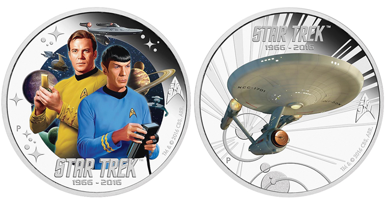 Where No Mints Had Gone Before Star Trek Coins Coin World