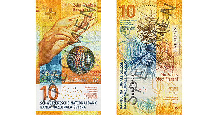 Swiss National Bank 10-franc note