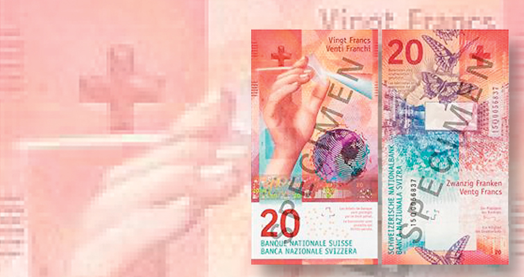 Switzerland releases second in nation's new series of bank notes