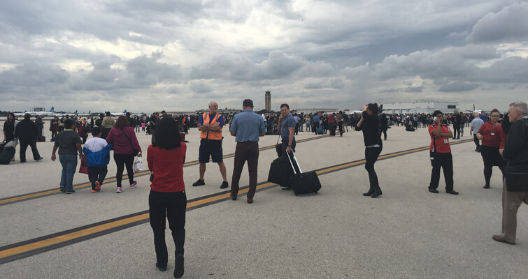 Fort Lauderdale airport evacuation