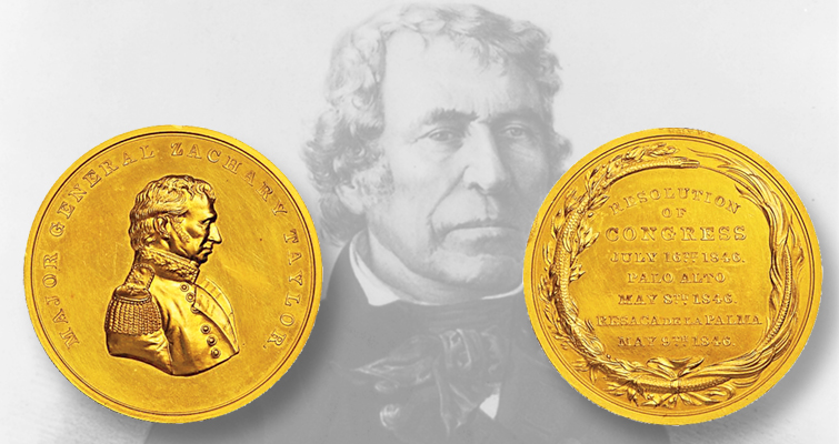 First Zachary Taylor congressional gold medal makes its first auction appearance