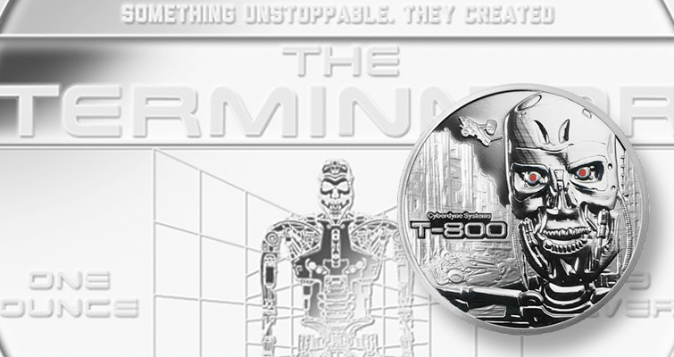 Stardust Silver releases 1-ounce, .999 fine silver Reverse Proof 'Terminator' medallion