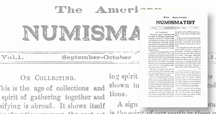 Before it became the ANA's journal, it was something else: Numismatic Bookie