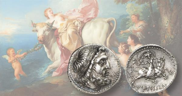 third-century-b-c-silver-drachm-crete-europa-and-bull