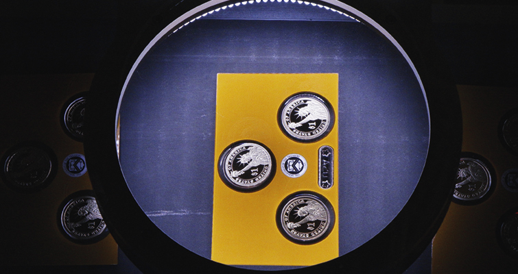 Three-coin Proof set inspection