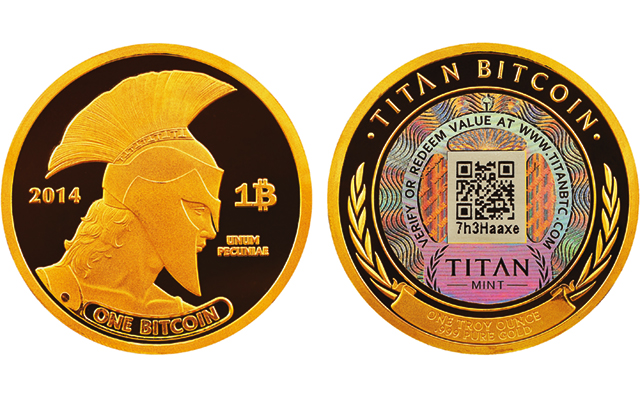 Casascius, Titan physical bitcoins give numismatic identity