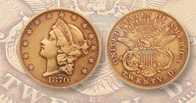 1870-CC $20 double eagle