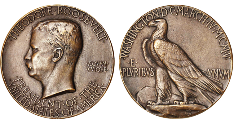 1905 inauguration medal for Theodore Roosevelt