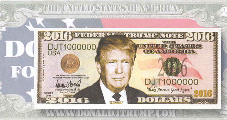 Donald Trump novelty note