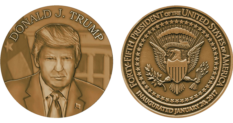 Trump official inaugural medal merged