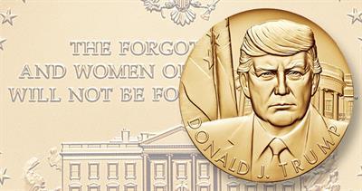 Trump presidential medal