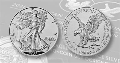 2021 Reverse Proof one-ounce silver two-coin set