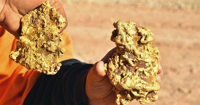 Gold nuggets from Australia