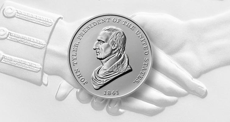 JOhn TYler silver Presidential medal