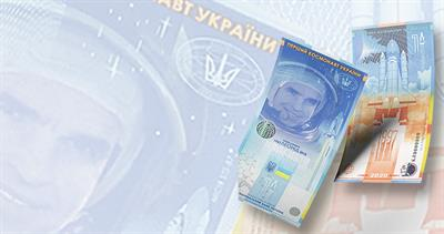 note honoring Ukrainian astronaut