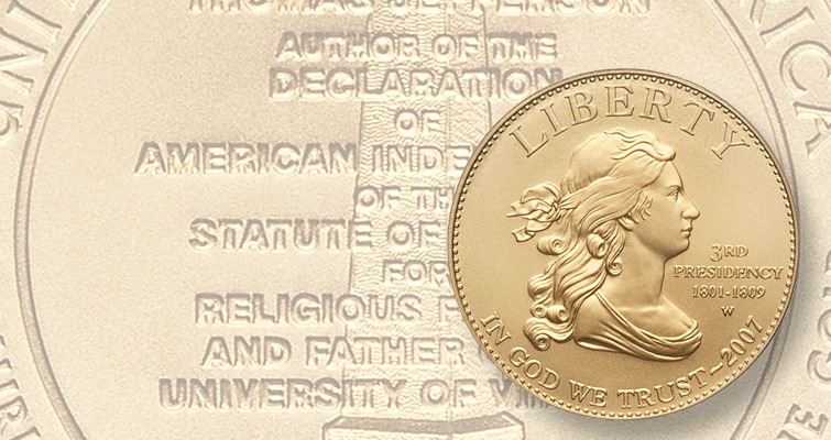 Thomas Jefferson First Spouse coin