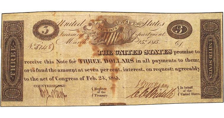 unique-uncancelled-3-dollar-war-of-1812-389