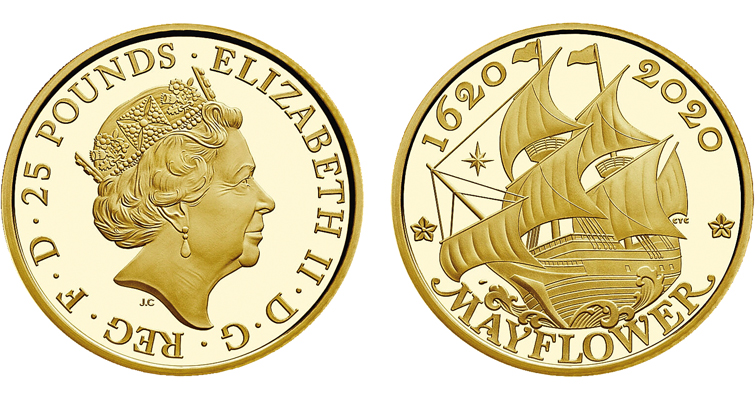 Royal Mint gold Mayflower coin